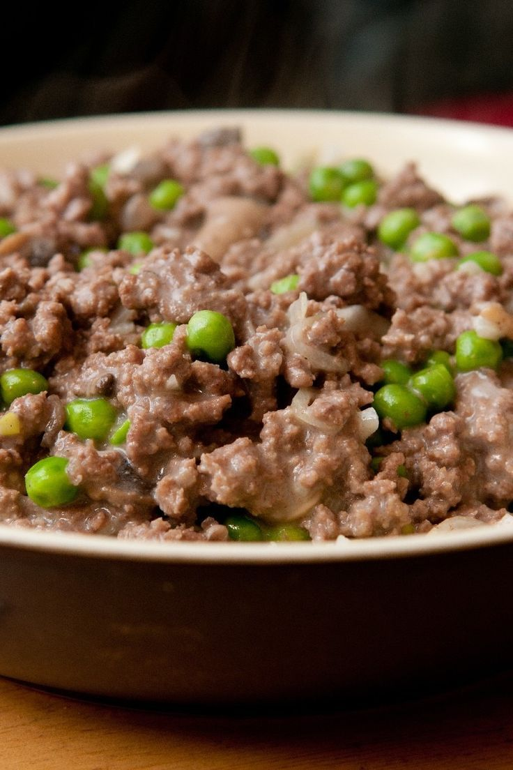 Kheema Indian Ground Beef with Peas Dinner Recipe with