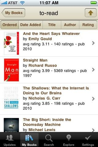 goodreads app, to keep track of your books Books, Books