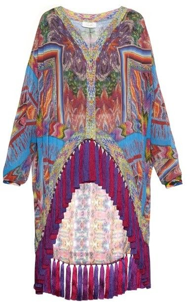 0dc8f99c6bf71 CAMILLA Tapestry of Time-print oversized silk shirt