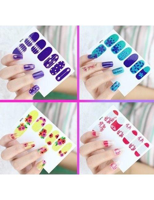 Spring Nail Stickers, Nail Art, Nail Design #spring #springnailsticker #naildecal #nailart #naildesign #nail #4in1