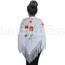 NEW Child Spanish Flamenco Dance Shawl Beautiful Traditional Embroidered Manton