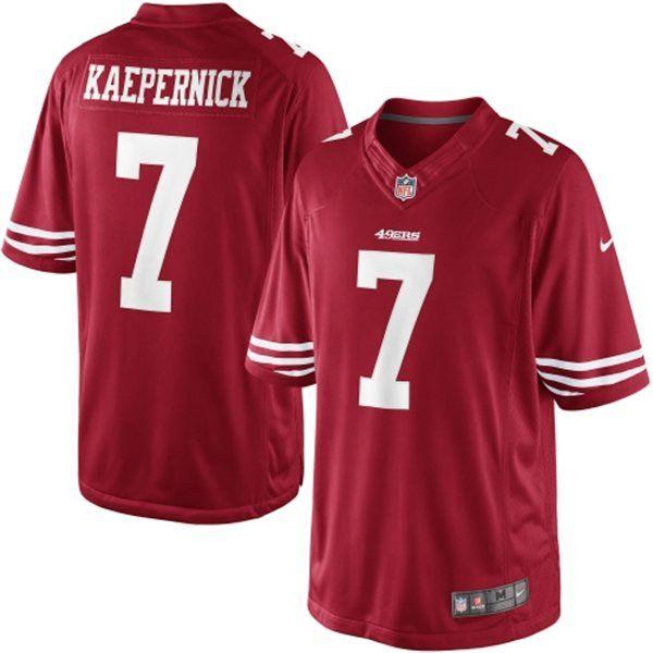 Men s Nike San Francisco 49ers Colin Kaepernick LIMITED Team Color Jersey 1bfb1bee0