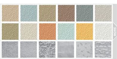 stucco color samples zinc, cheesecake, colt gray or pottery blue ...