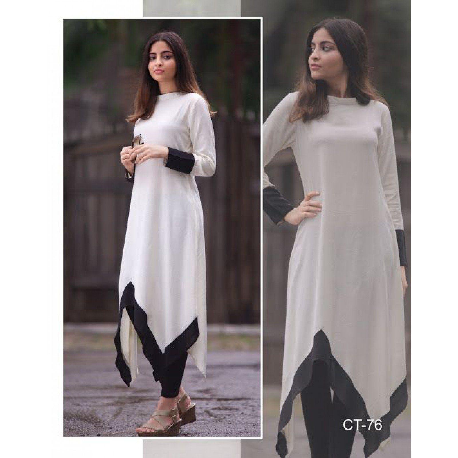 Black White Kurti Kurti Designs Party Wear Designer Party Wear Dresses Stylish Dresses