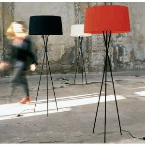 Tripode Floor Lamp Shade Color: Natural by Santa & Cole. $1050.00. SC-TRWH Shade Color: Natural Lamps sold Separately Features: -Designed by: Equipo Santa and Cole.-Black metal structure. Options: -Available in several lampshade finishes. Specifications: -Voltage: 230V E 27. Dimmer.-Accommodates: Max 100 Watt frosted incandescent bulbs. Dimensions: -Shade: 12.6'' H x 22'' Dia.-Base: 17'' Dia.-Overall dimensions: 66.1'' H x 24.4'' W.