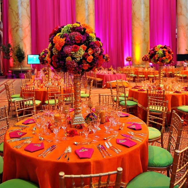 the centerpieces indian ideas pinterest orange and pink wedding indian wedding. Black Bedroom Furniture Sets. Home Design Ideas