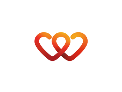 Heart To Heart Gradient Pinterest Branding Agency Logos And Icons