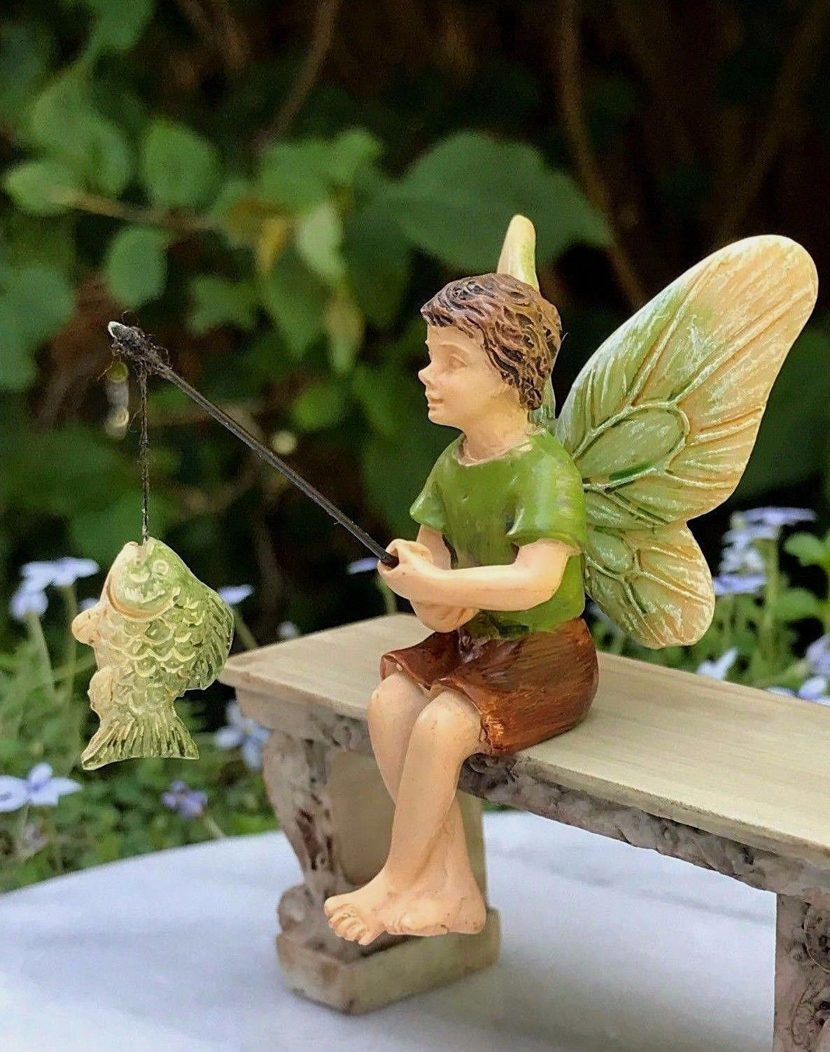 Miniature Dollhouse FAIRY GARDEN Sitting Fairy Accessories
