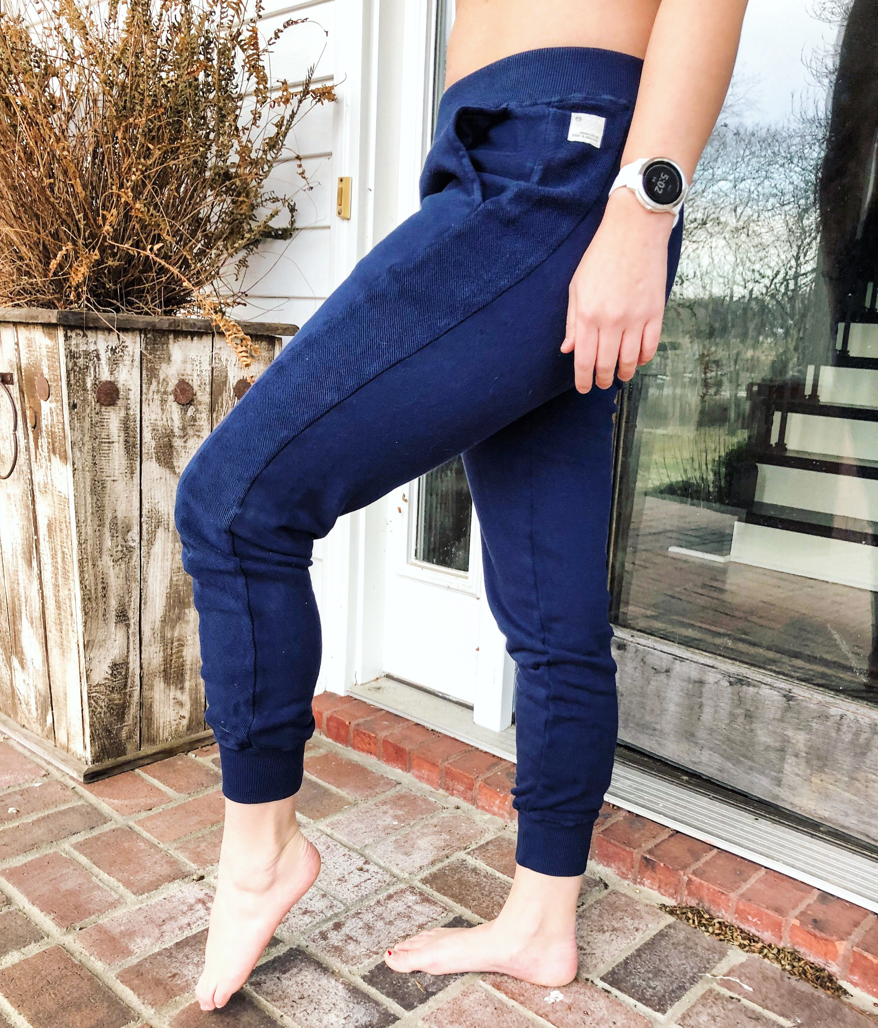 Dive jogger indigo joggers fashion mom jeans