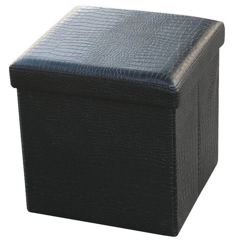 Black Storage Ottoman Stool Available In The Philippines.