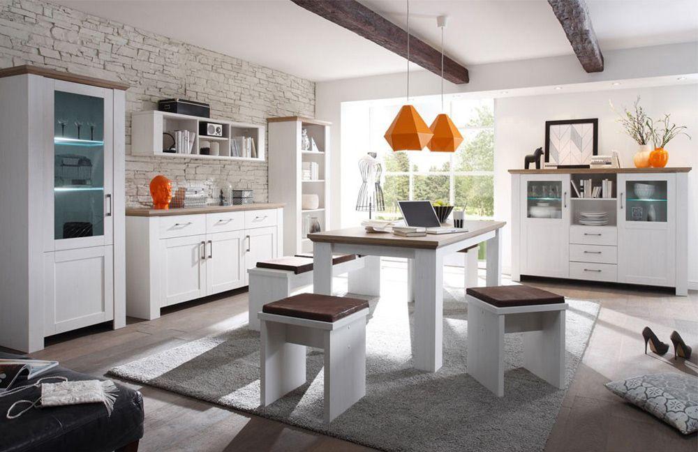 die weißen Esszimmermöbel begeistern im modernen Landhausstil - moderne esszimmermobel design ideen
