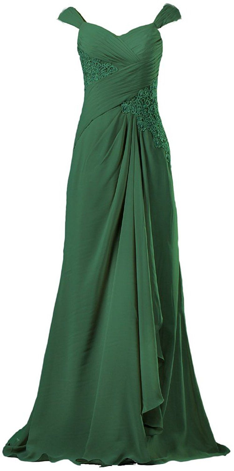 8c55f85aeda ANTS Women s Vintage Chiffon Cap Sleeve Long Evening Dresses Gown    Find  out more details