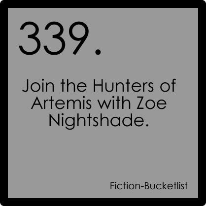 In Percy Jackson the last Olympian Artemis is introduced