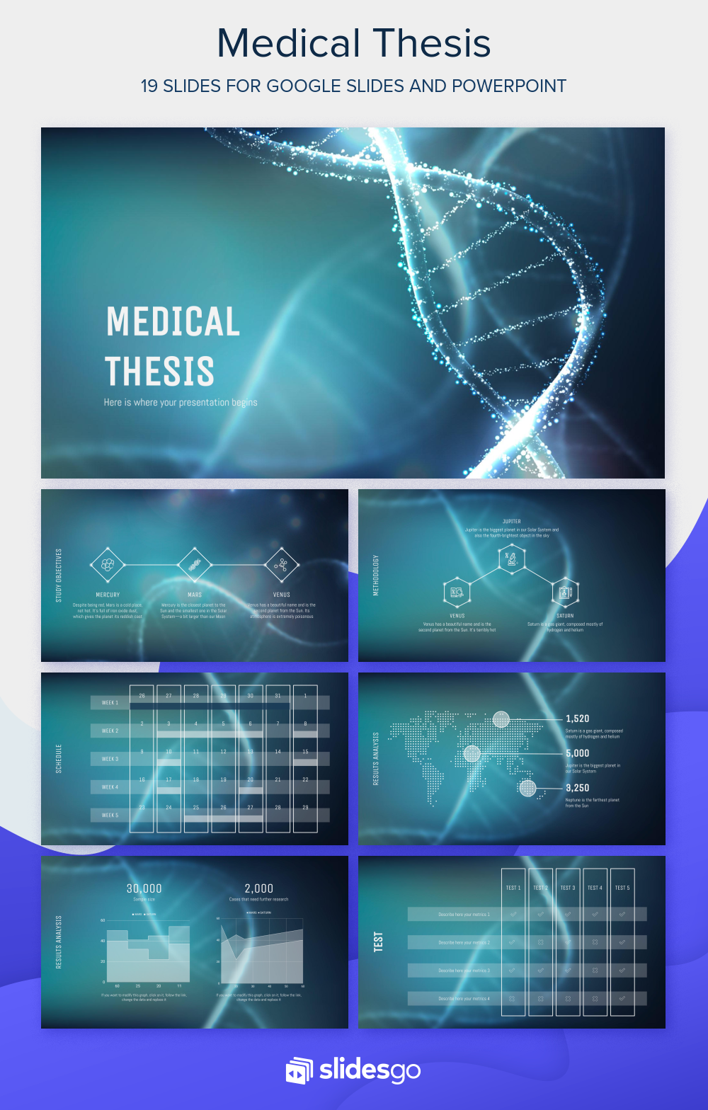 Medical Thesis Presentation Free Google Slides theme and