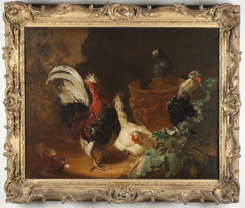 Abraham Bisschop (1660-1731), Birds in a Landscape Sold $24,000