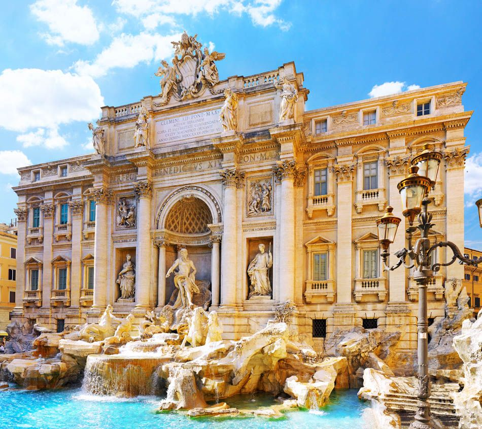 Fountain di Trevi - most famous Rome's fountains in the world. Italy.   |  45 Reasons why Italy is One of the most Visited Countries in the World