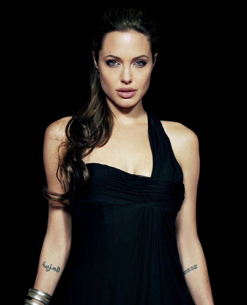 Image result for angelina jolie arabic tattoo