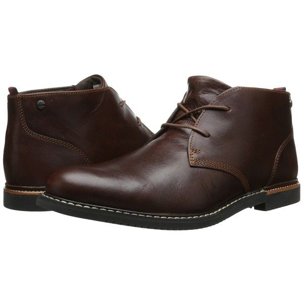 Timberland Earthkeepers Brook Park Chukka (Red/Brown Smooth) Men's...  ($130) ❤ liked on Polyvore featuring men's fashion, men's shoes, men's boots,  mens ...