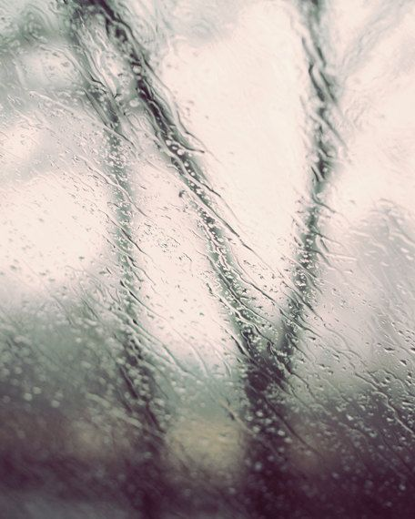 Rain art, abstract nature photography, rain photography, gray bedroom art, gray and black art, gray bathroom art, wall art photography is part of bedroom Art Photography - TheGinghamOwl Thank You! April