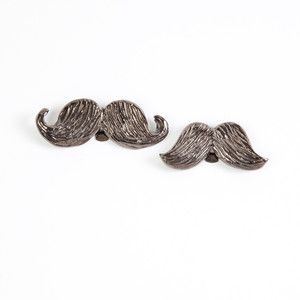 Mustache Shoe Clips Gunmetal now featured on Fab - Movember???.