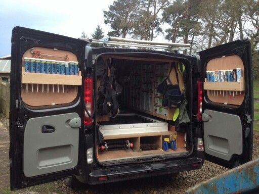 Pin By Kaytie Foster On Van Van Shelving Van Racking Van Storage