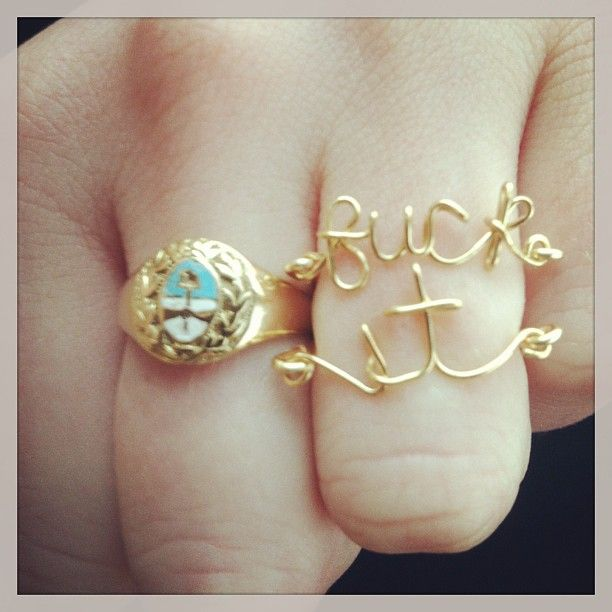 These AWESOME rings belong to me!