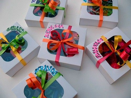RECYCLABLE LOOT TREAT FAVOUR GOODY GIFT BAG 6 BUTTERFLY BIRTHDAY PARTY BAGS