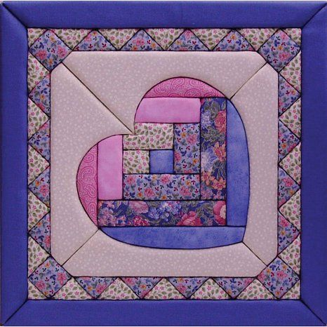"""Wall Hanging Quilts quilt magic no sew wall hanging kit - 12"""" x 12"""" heart 