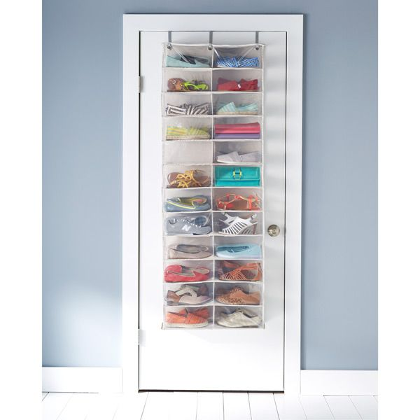 24 Pocket Overdoor Shoe Organizer | The Container Store