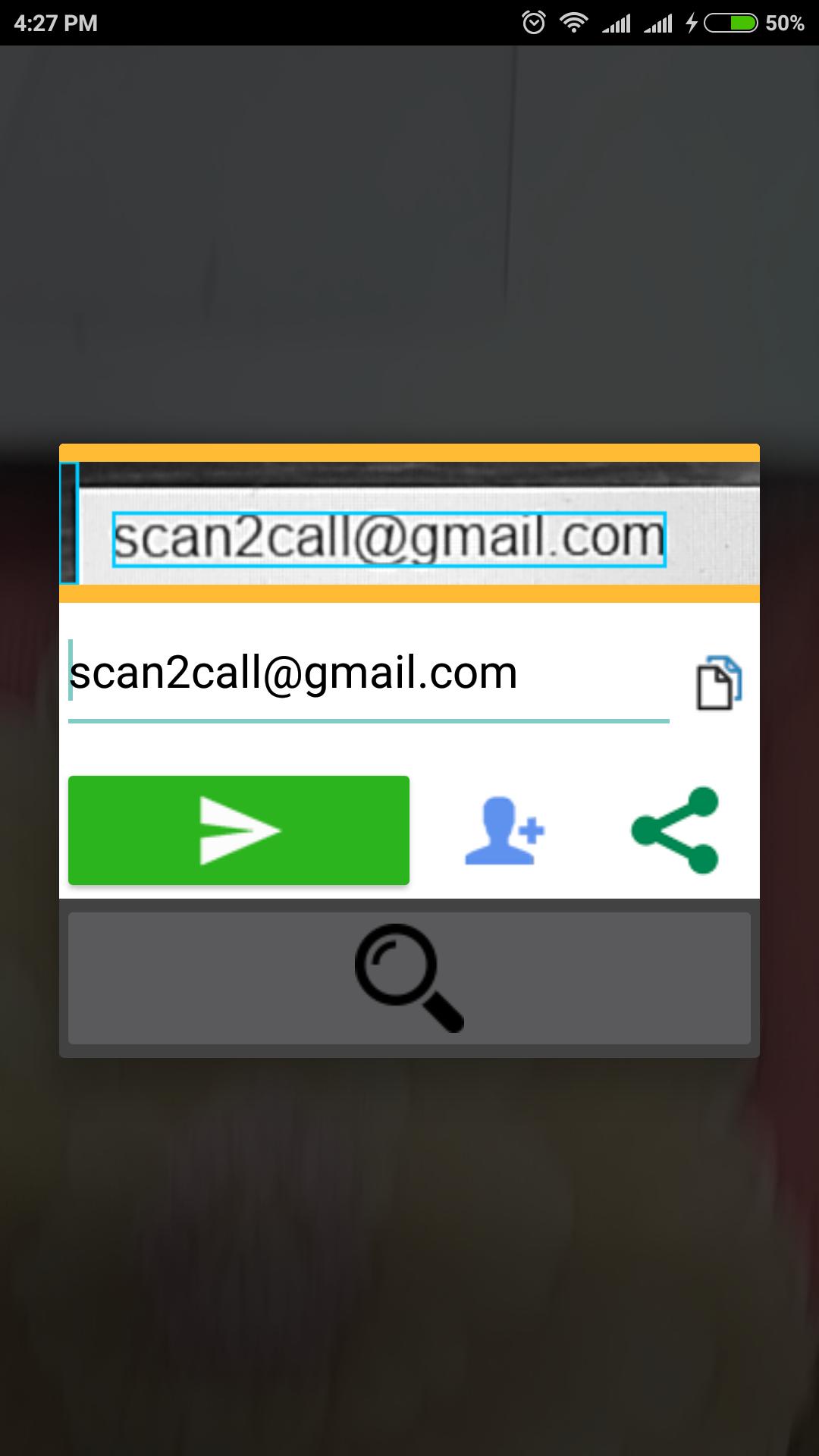Scan To Call Ocr Open Project Android Studio Desktop Screenshot