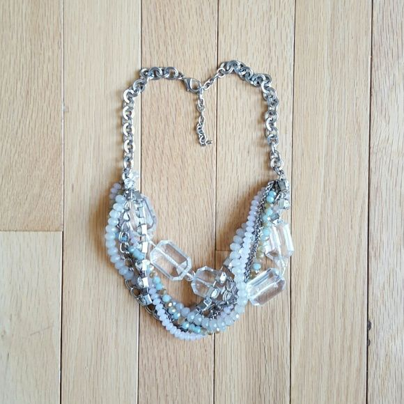 Iridescent  Statement Necklace Beautiful Iridescent Statement Necklace with Adjustable Clasp Jewelry Necklaces