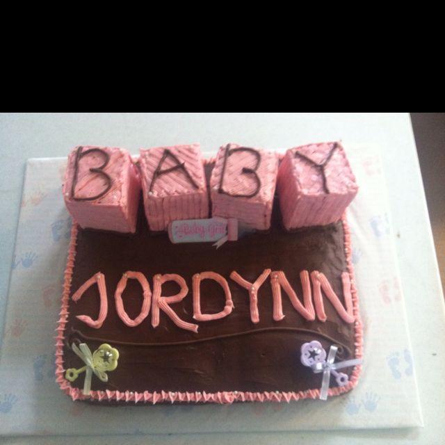 A baby shower cake I made : )