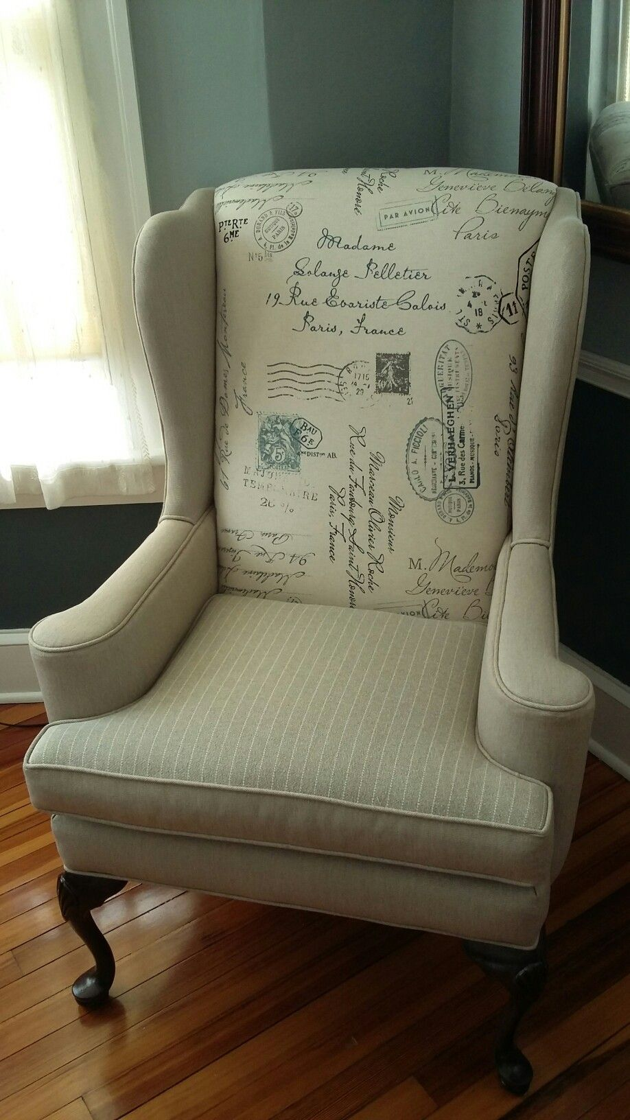 Grain Sack Chair My Refurbished Ethan Allen Chair Grain Sack Chairs In 2019