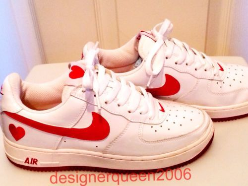 2004 Nike Air Force 1 Valentine S Day White Red Patent Leather Ds