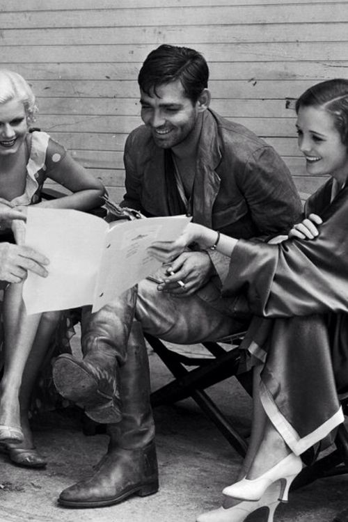 "Jean Harlow, Clark Gable - and Mary Astor - on the Set of ""Red Dust"" - later made into ""Mogombo"" with Clark and Grace Kelly and Ava Gardner!"