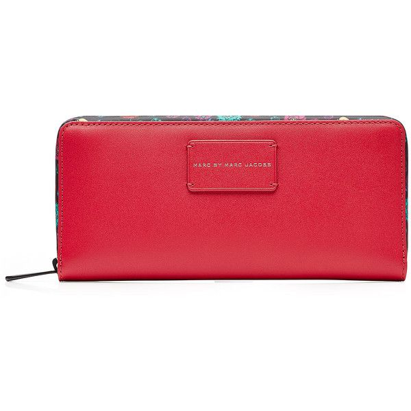 Marc by Marc Jacobs x Disney Ditsy Flower Zip Around Leather Wallet (600 BRL) ❤ liked on Polyvore featuring bags, wallets, multicolor, real leather wallets, marc by marc jacobs, leather bags, leather zip around wallet and flower wallet