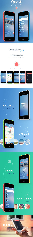 Quest. Free iOS7 App IOS Apps Designs Mobile app