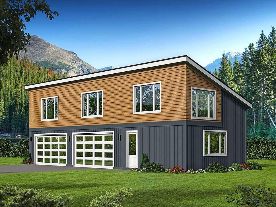 Modern Style 3 Car Garage Plan Number 51625 Garage Workshop Plans Workshop Plans Garage Workshop