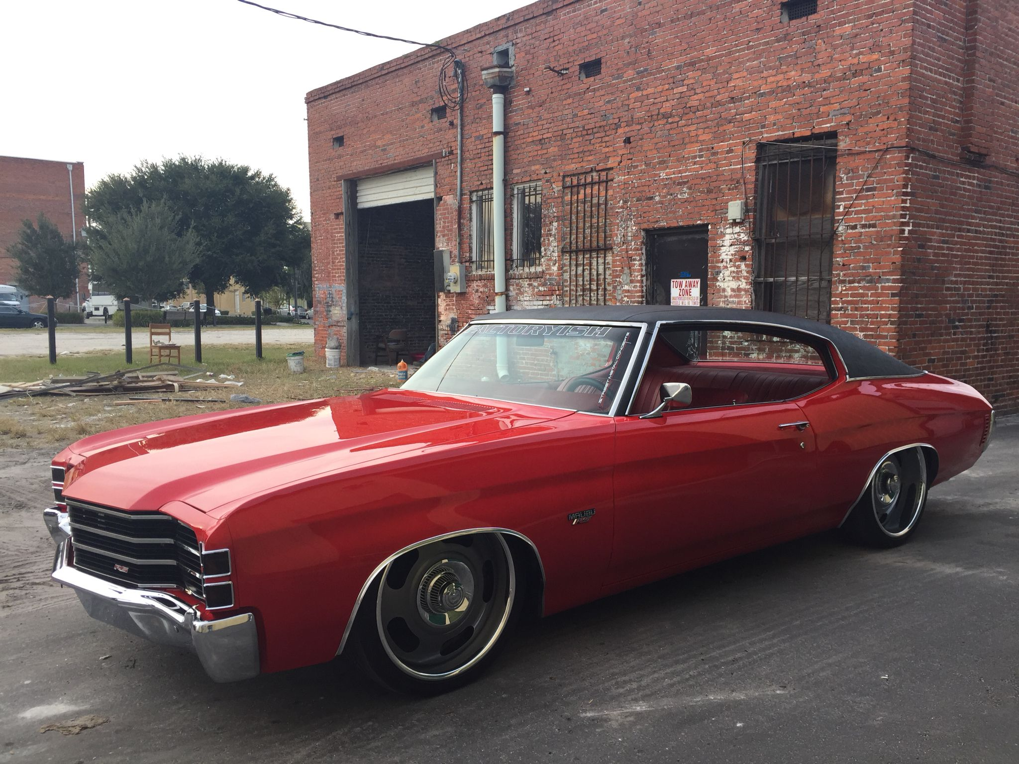 Chevelle blue metallic paint car pictures car canyon - 1972 Rs Chevelle Factoryish Bagged Custom Hideaway Headlight Grills Red Blacktouringcar