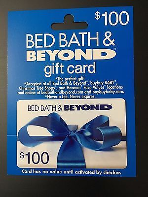 coupons giftcards bed bath beyond 100 gift card never used and verified balance coupons giftcards