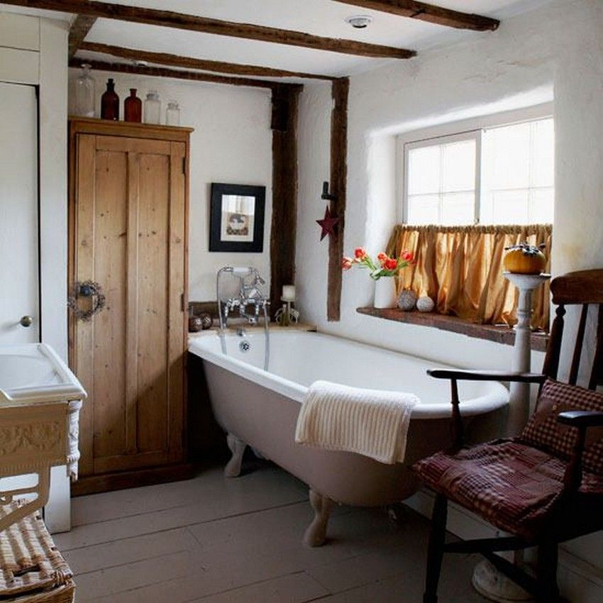 Country Bathroom Decor Home Pinterest Country Style