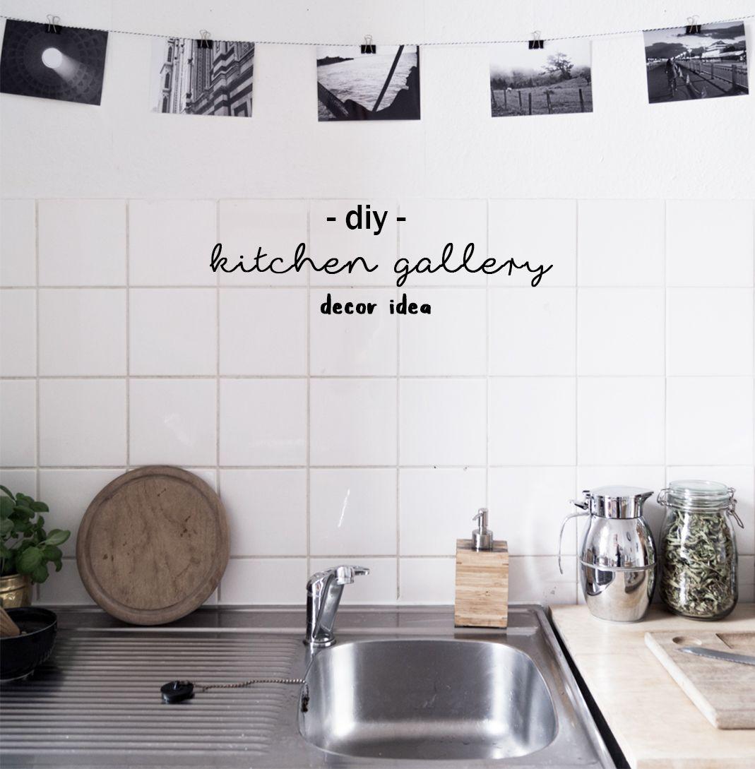 DIY Decoration Idea: Monochrome Kitchen Gallery | Meine Monochrome Küchen  Galerie | DIY Deko | Photos | Küche | Interior | Wall | Wanddekoration |  Bilder ...