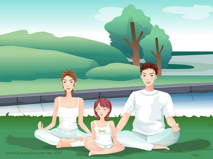 Kinderen op yoga, ja of nee.  Bron: wallcoo.net