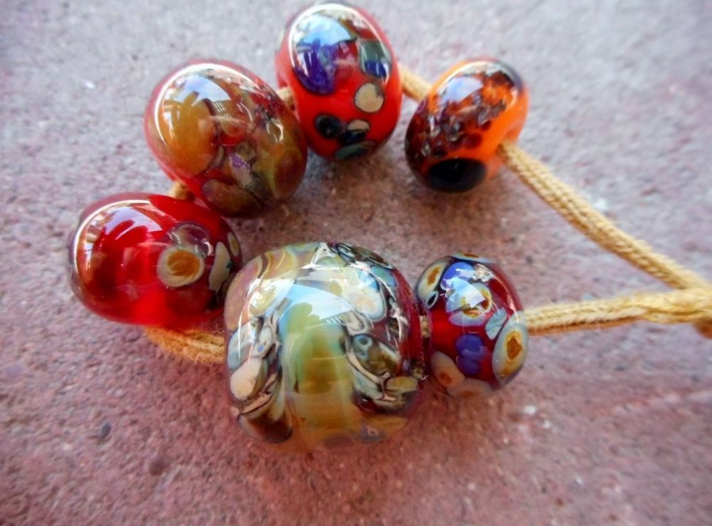 ~ Cindy's Handmade Lampwork Glass Focal Beads Double Helix Charms SRA OOAK 26