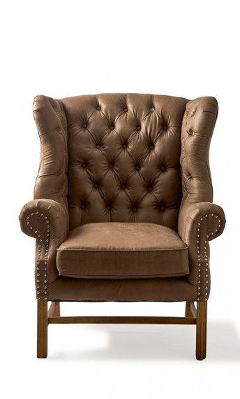 Rivièra Maison Franklin Park Wing Chair, Pellini, Coffee