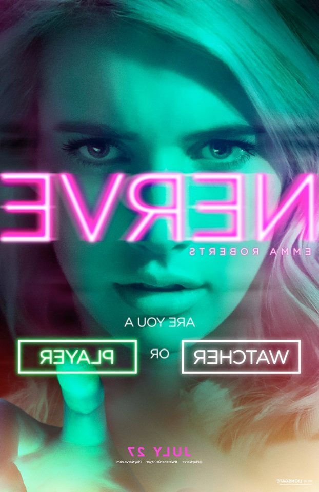 Are you a #WatcherOrPlayer? Check out Emma Roberts in the new #Nerve poster - In theaters July 27.