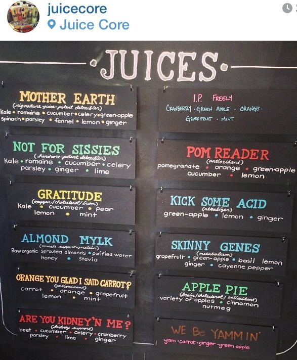 Drink Named: Cleverly Named Juicing Combos...