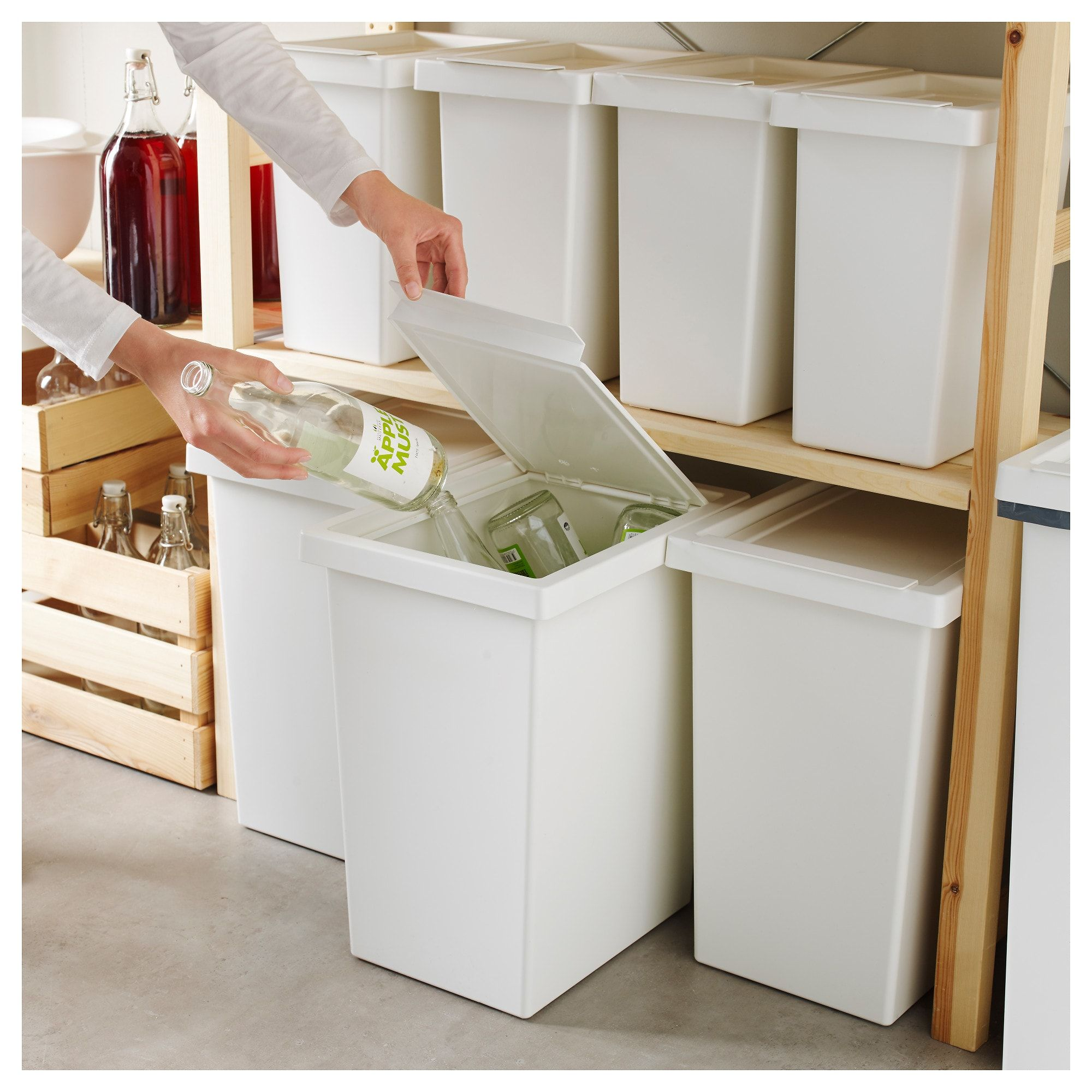 Ikea Tonne Filur Bin With Lid White In 2019 Studio Design Pantry Laundry
