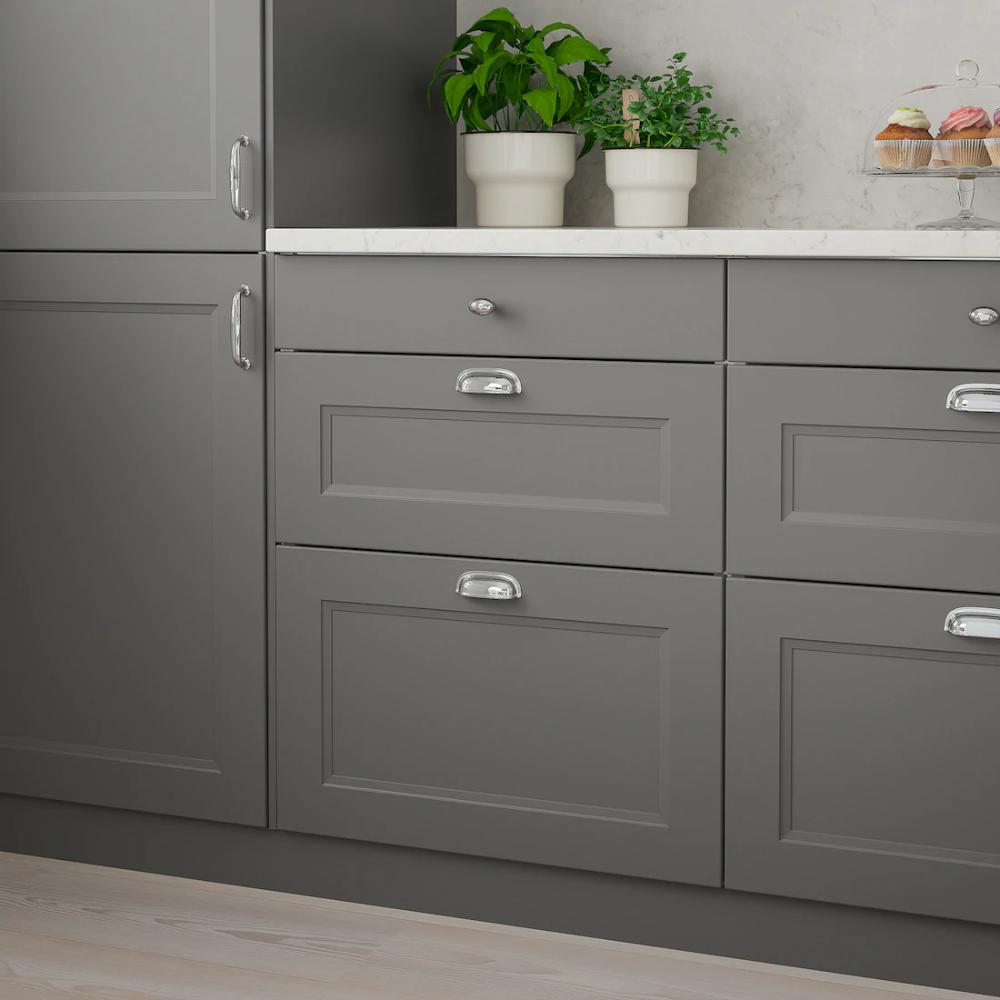 Axstad 2 P Door Corner Base Cabinet Set Dark Gray 13x30 Ikea In 2020 Dark Grey Kitchen Cabinets Ikea Kitchen Cabinets Base Cabinets