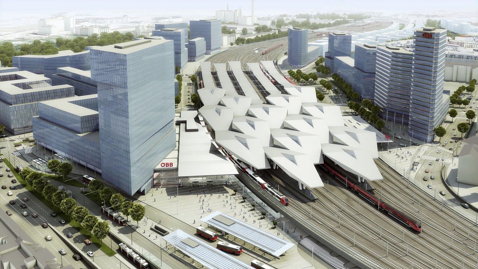 Vienna Hauptbahnhof (Main Train station) | Railway station, Vienna, Heart  of europe